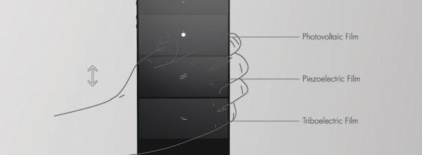 Delta V é um smartphone conceitual, que é carregado sem eletricidade