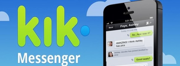 Kik, um aplicativo de mensagens instantâneas que desafia WhatsApp